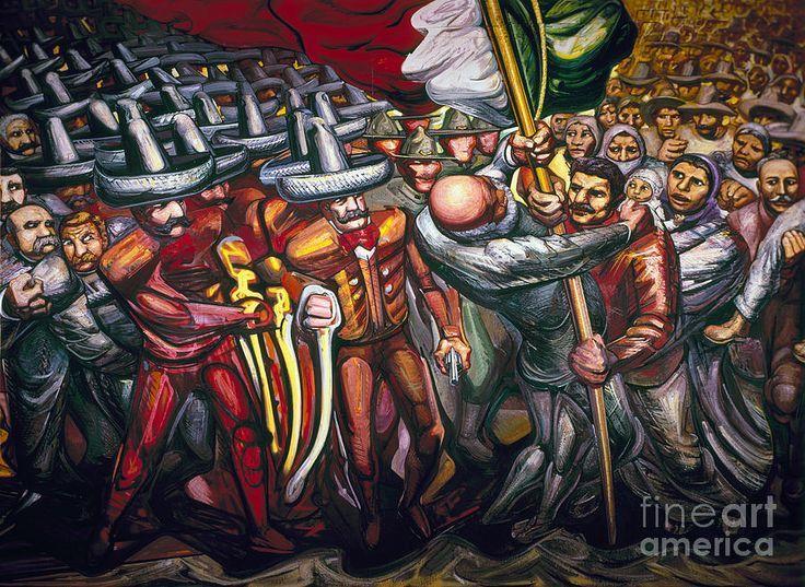 Pintura Mural De David Alfaro Siqueiros Arte Mexicano Pinturas