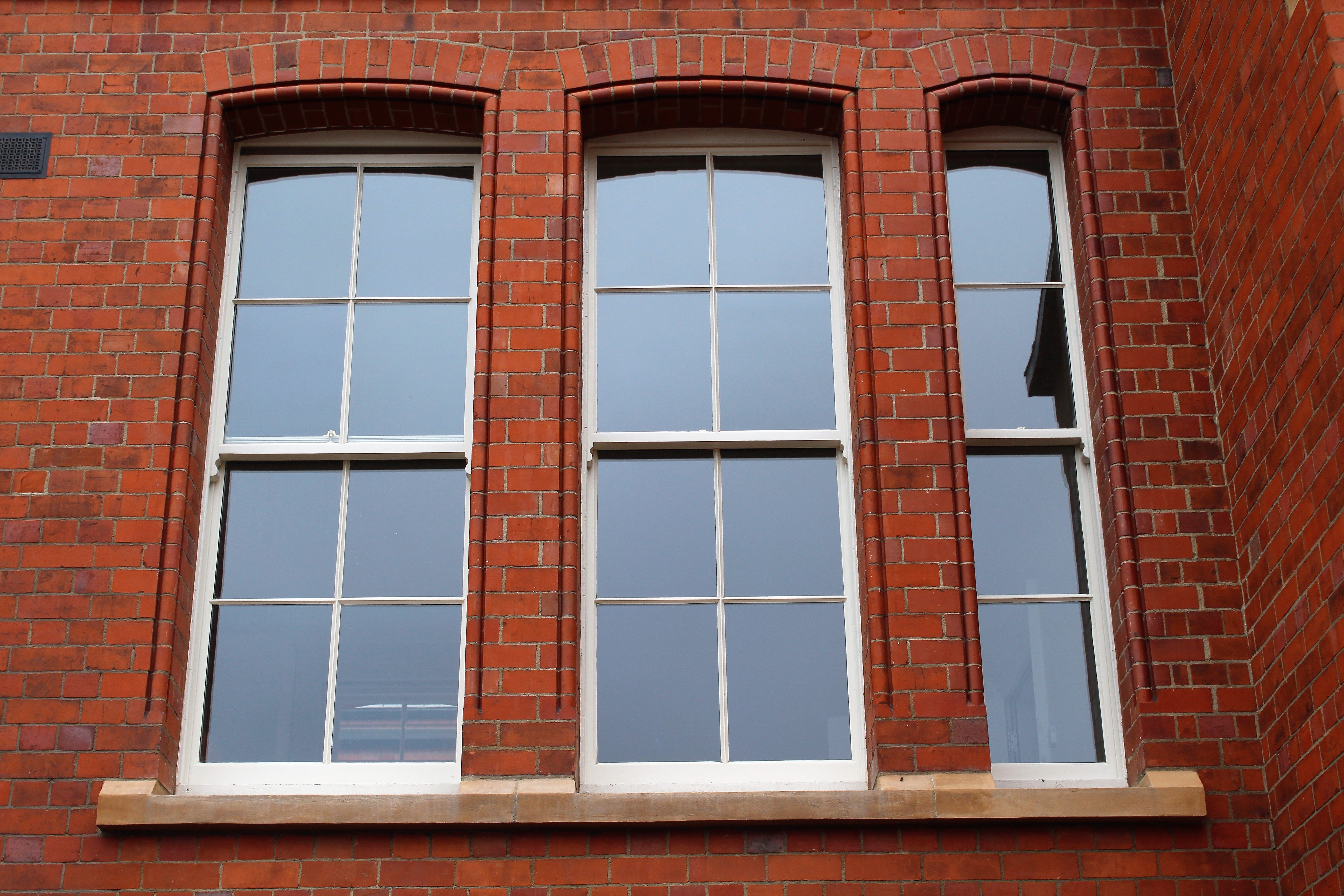 New Sliding Sash Windows In An Old Red Brick Dublin Terrace Sash Windows Windows Casement Windows