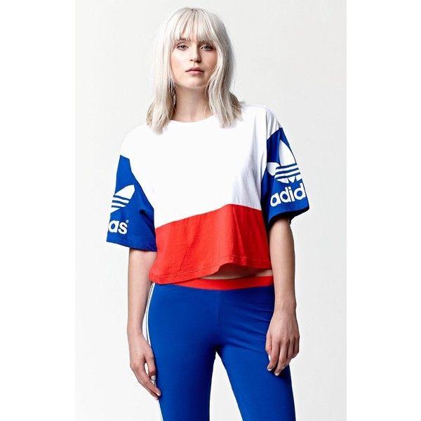 adidas originals cropped graphic t shirt