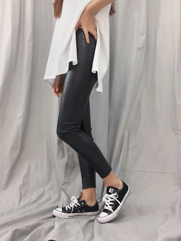 Coated leggings ~ your edgy alternative to leather pants