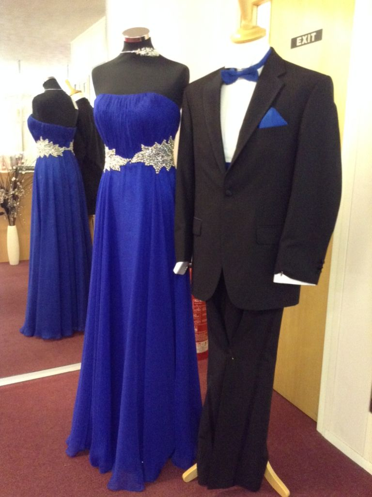 Blue Peacock Prom dress or Bridesmaid
