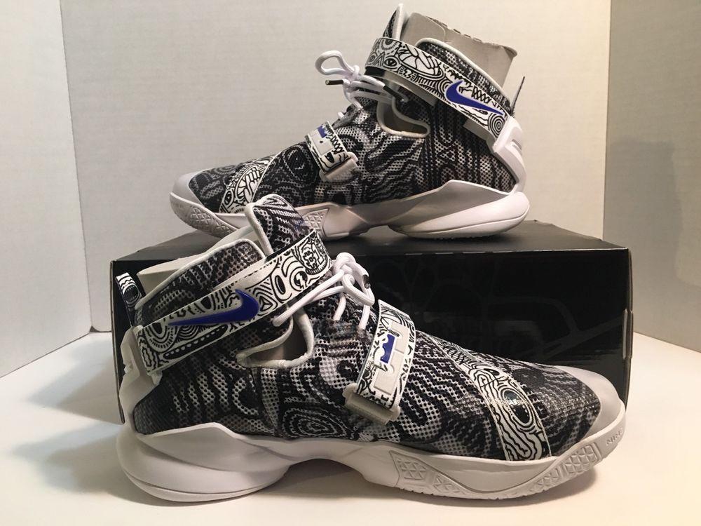 5f7be0e3f1fd NIKE Lebron Soldier IX 9 Limited Freegums Edition Black White Concord NEW  Size 9  Nike  BasketballShoes