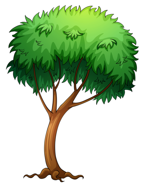 Painted Tree PNG Clipart Picture