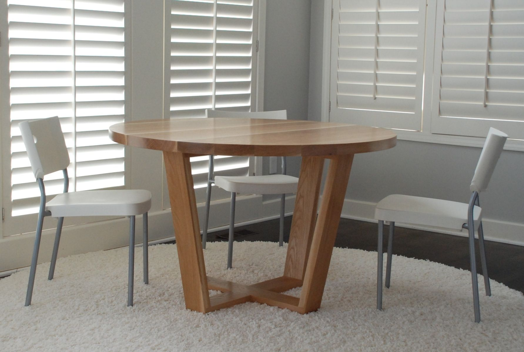 Angled Leg Round Dining Table