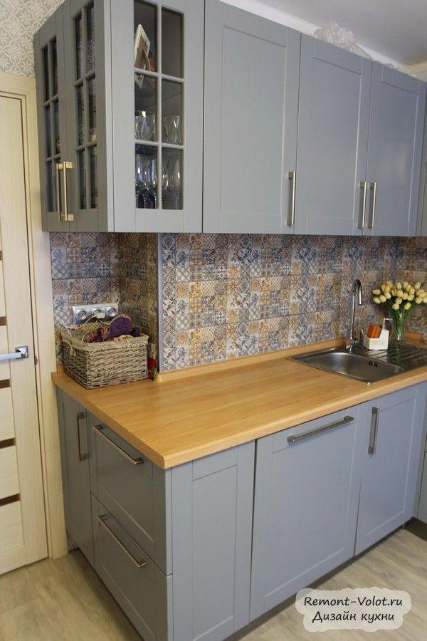Graue Eckküche 11 qm mit Kanister, Geschirrspüler und