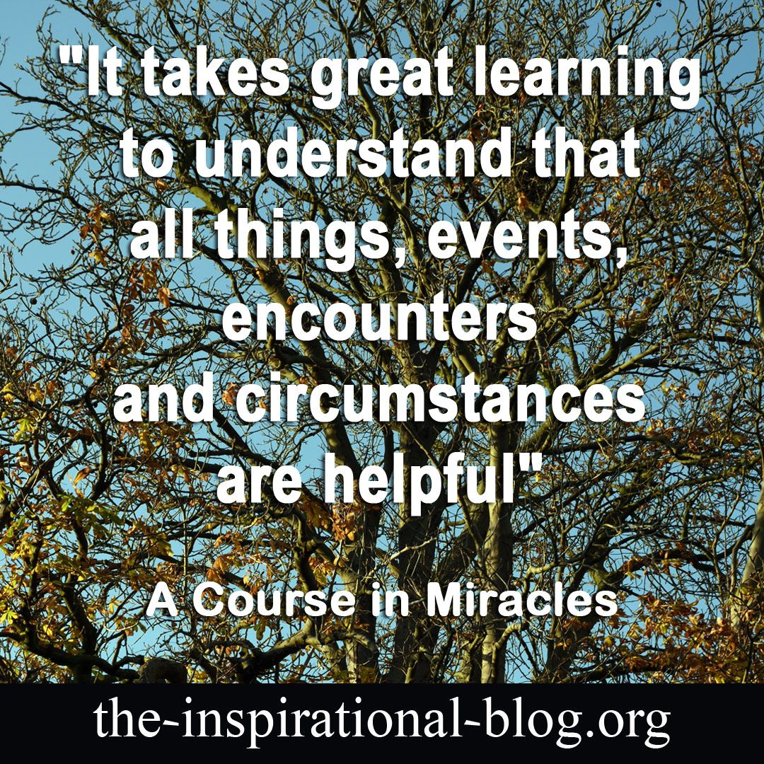 It Takes Great Learning To Understand That All Things Events