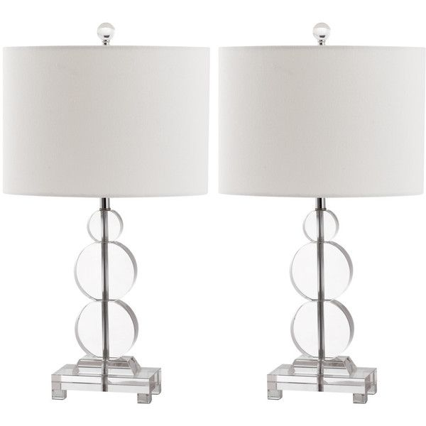 Safavieh Crystal Rounds Table Lamp, Set Of 2 Clear Lit4097a-set2 ($298) ❤ liked on Polyvore featuring home, lighting, table lamps, crystal table lamp, round table lamp, safavieh, safavieh table lamps and crystal glass table lamps