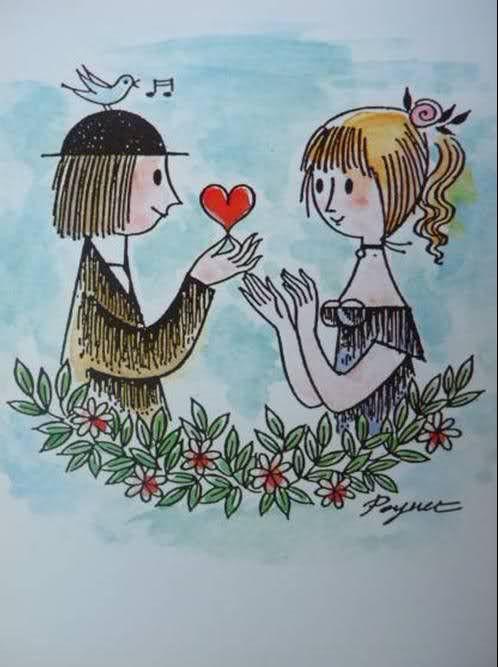 RAYMOND PEYNET : Les Amoureux de Peynet