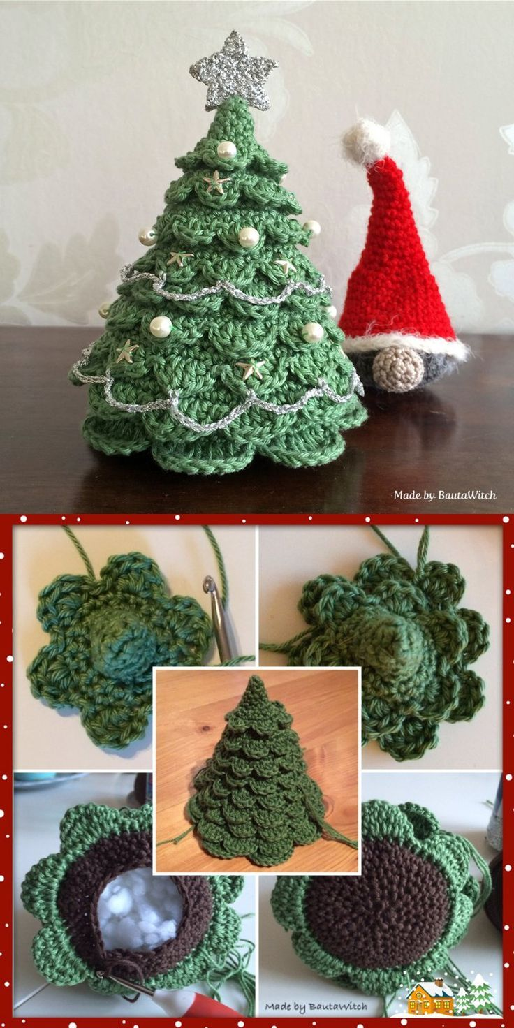 Photo of 6 DIY gehäkelten Weihnachtsbaum mit kostenlosem Muster