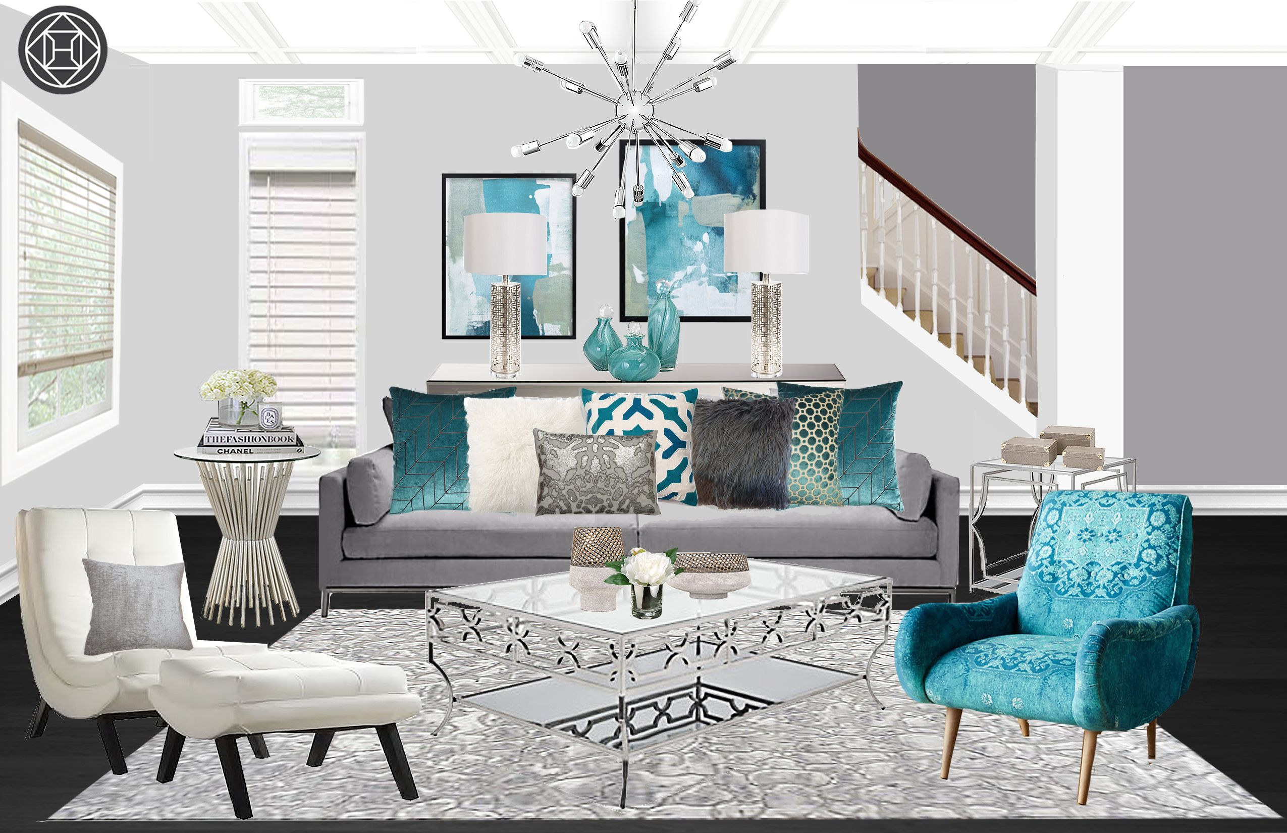 Best Contemporary Modern Glam Living Room Design By Havenly 400 x 300