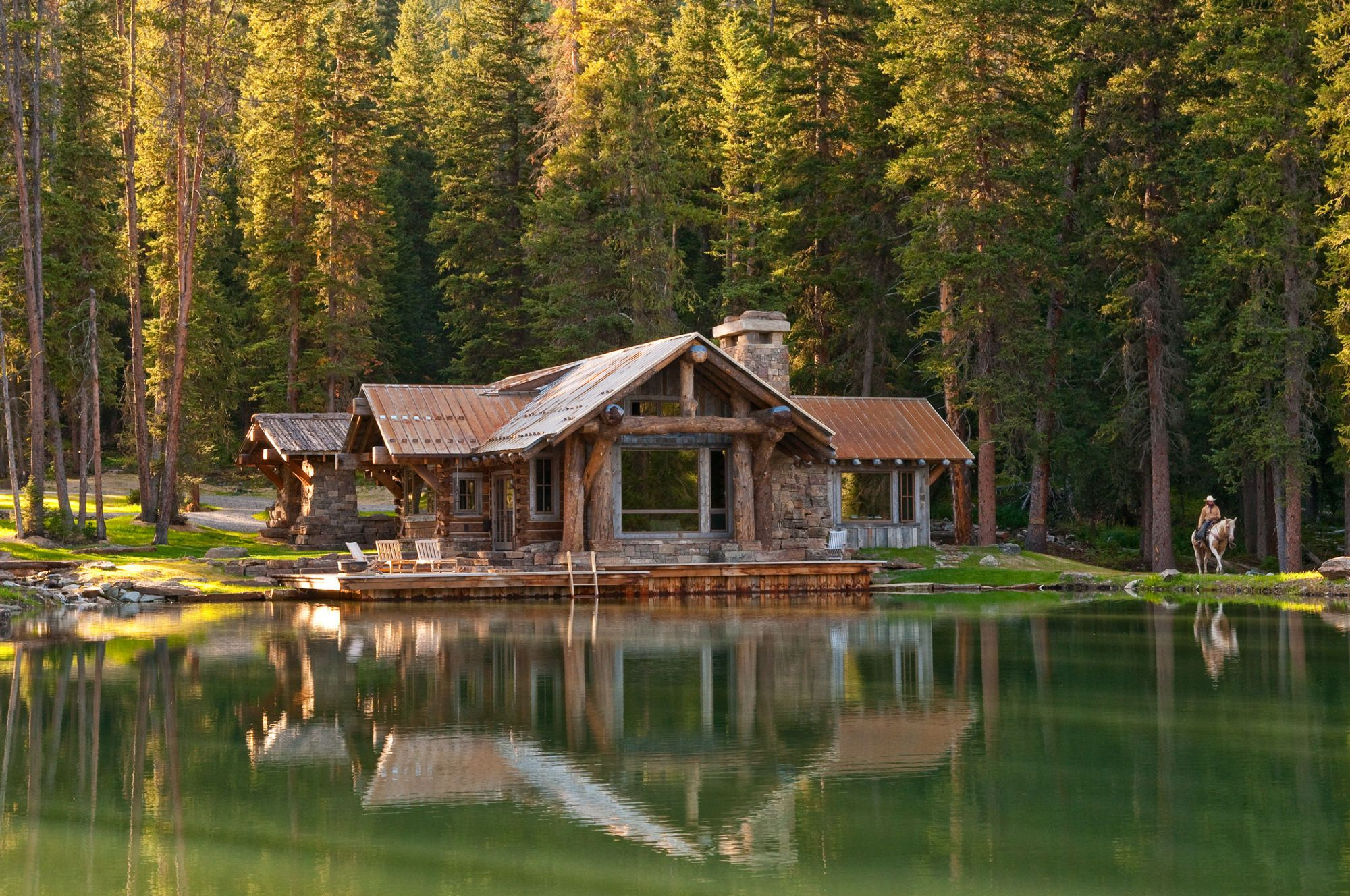 Headwaters Camp Cabin in Big Sky Montana | Dream Homes/Rooms ...