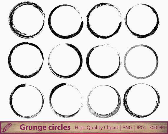 Circle Clipart Grunge Circle Frame Svg Png Printable Etsy Circle Frames Circle Clipart Clip Art
