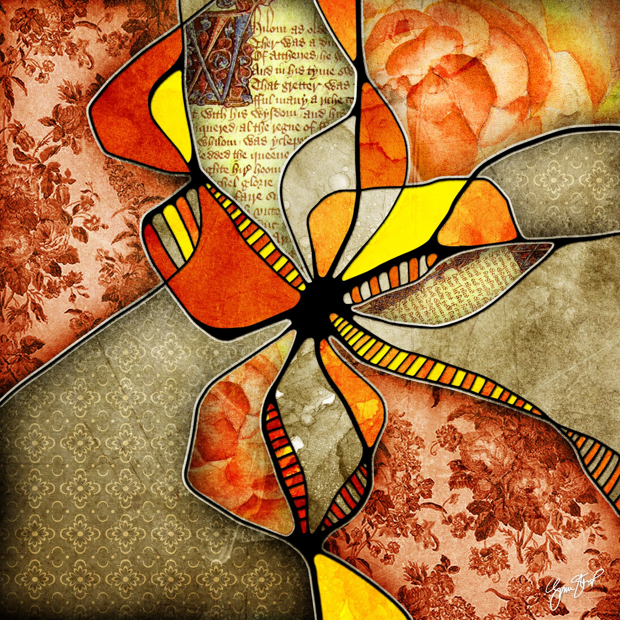 Collage mixed media art by Gina Startup