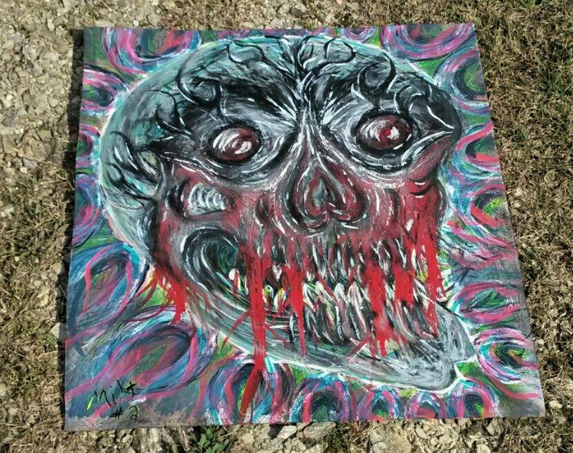 #TheBeardedWelder #painting #art #slipknot #korn #eminem #rihanna #chive #zombie #walkingdead #steampunk #weldporn #heart #glock #MetalArt #nin #halloween #love #broken #horror #gore #tattoo #monster #skull #selfmade