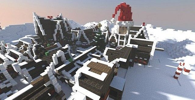 Christmas Village I Merry Minecraft Town Building Ideas