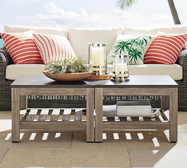bunching coffee tables. Connor Outdoor Bunching Coffee Table #potterybarn Tables N