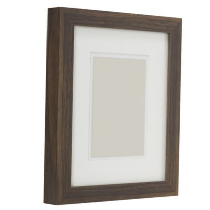 Contemporary Block Picture Frame Dark Wood Effect 25 x 30cm | table ...
