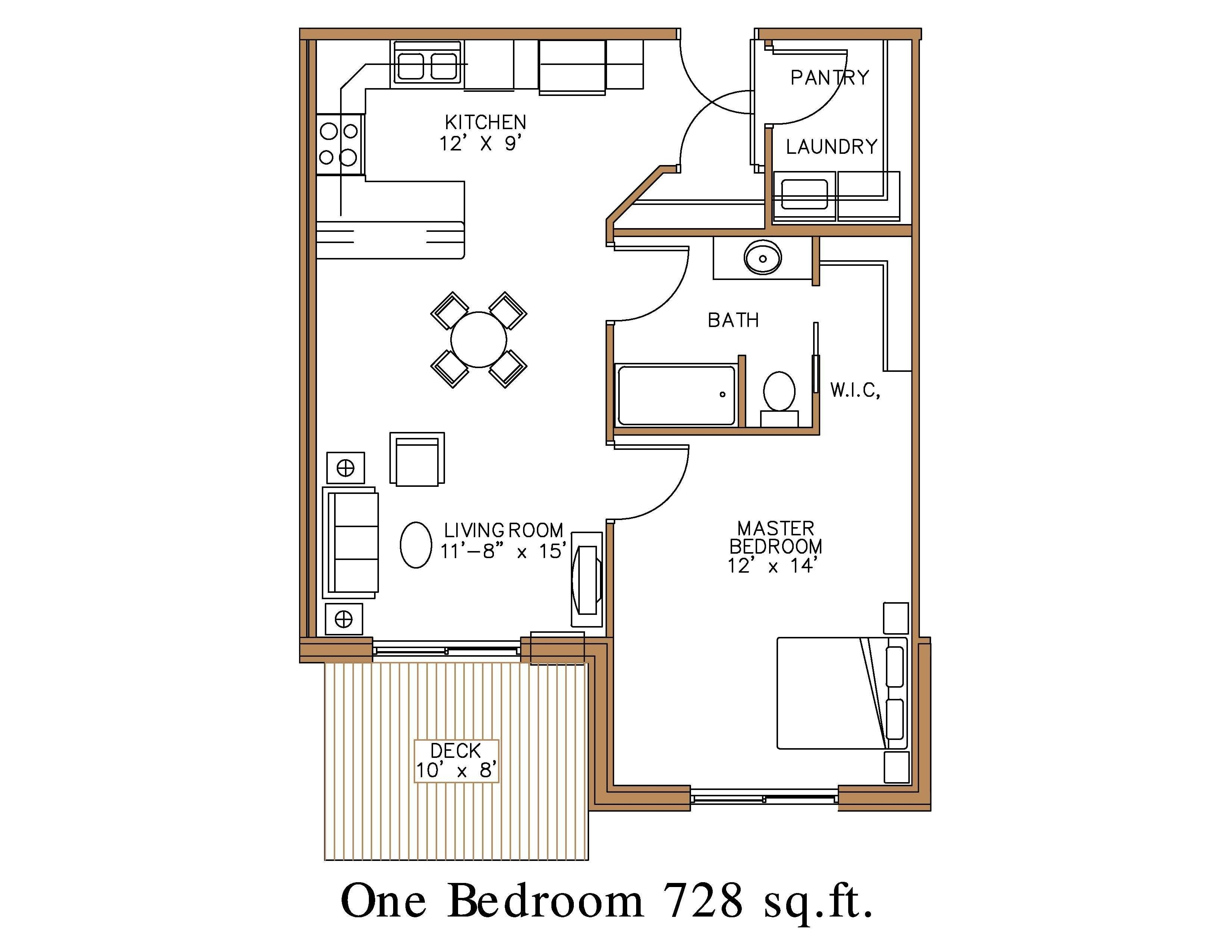 Great Photo Of 1 Bedroom Apartment Floor Plan With Images Open