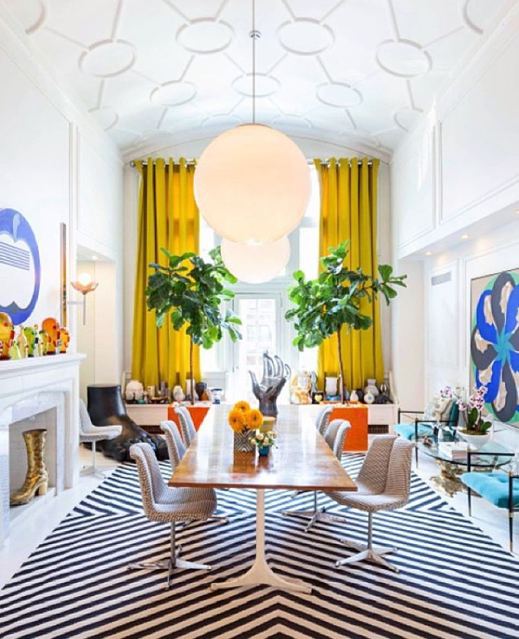 World renowned designer, potter and author Jonathan Adler has got it goin'  on in his uber cool New York apartment.  Call in store or visit our online store at www.romulusandthegypsy.com.au Image via @jonathanadler