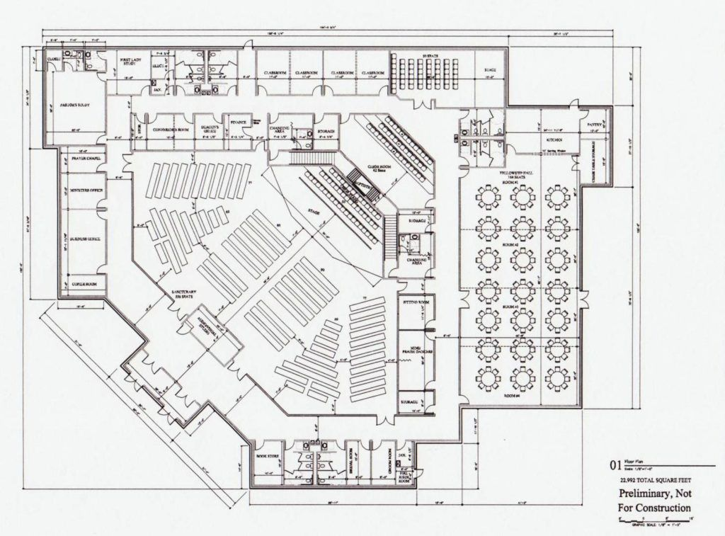 Likable church build design plan baptist church floor for Floor plan church