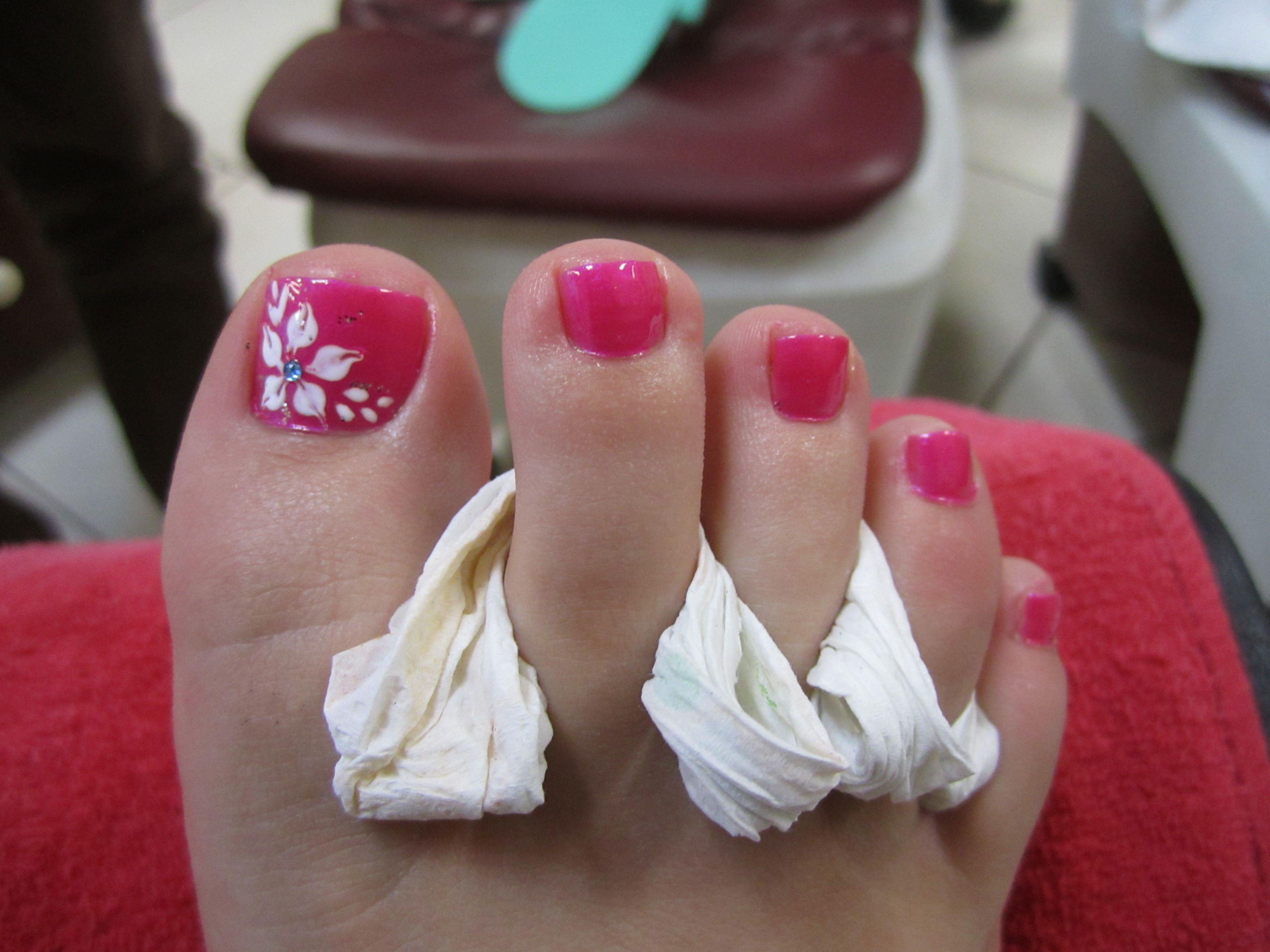 Pink Floral Nail Design Pretty Toe Nails Toenail Art Designs Easy Toe Nail Designs