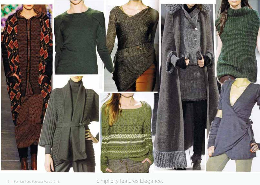 SIPPO fashion trend forecast A/W 2012-2013 - KNITWEAR Simplicity features elegance