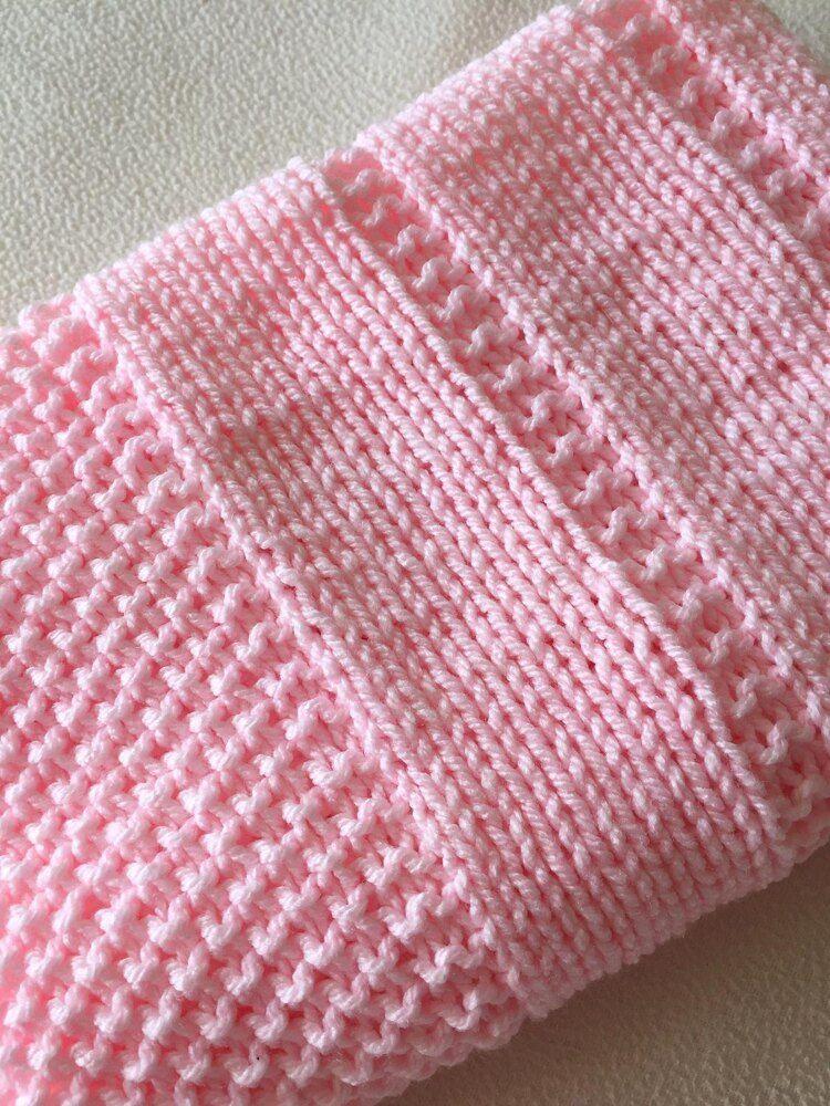 Easy Baby Blanket Reversible Design Knitting pattern by