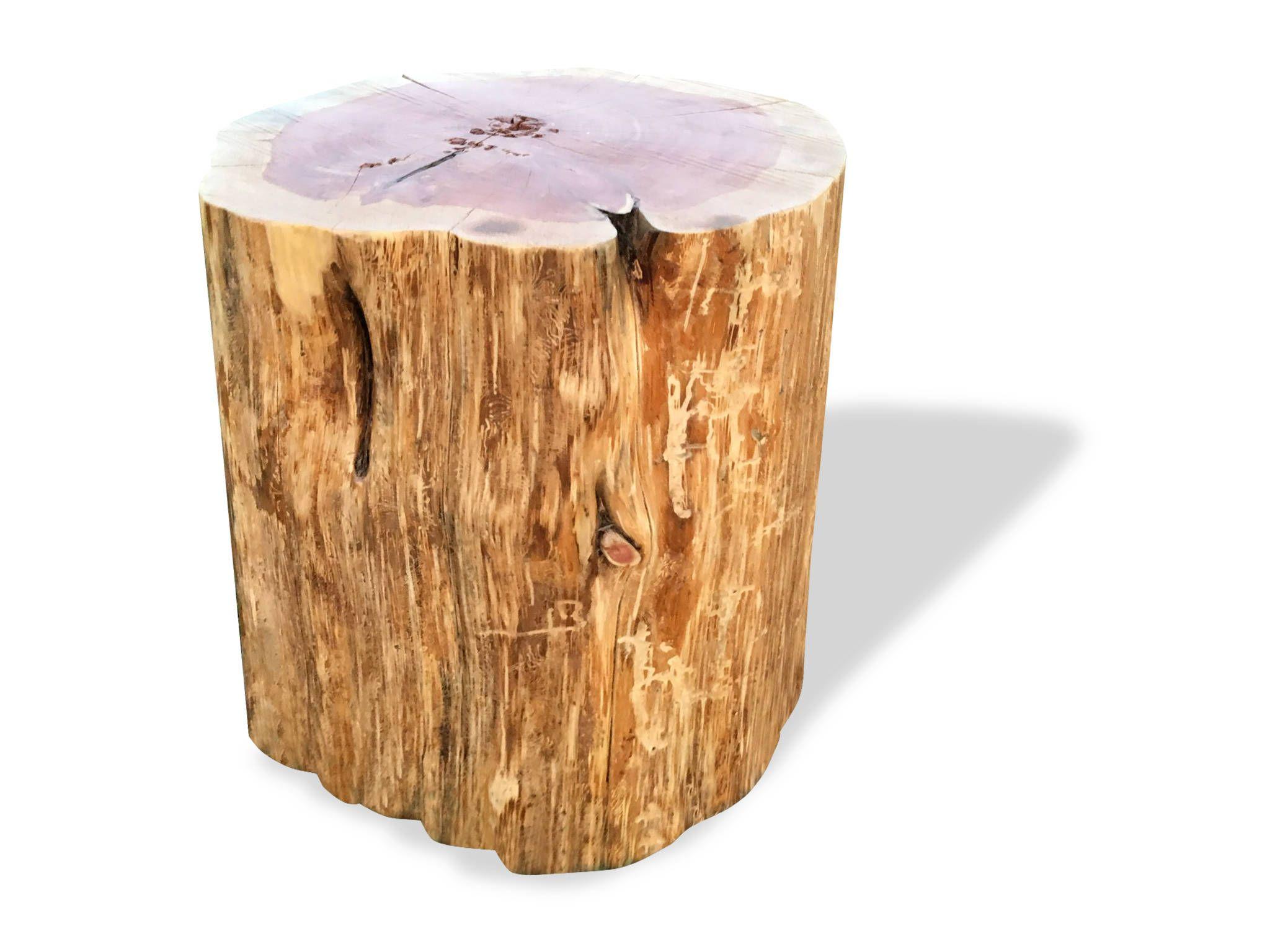 Ceppo Di Legno Tavolino stump table, real cedar, log furniture, stump coffee table