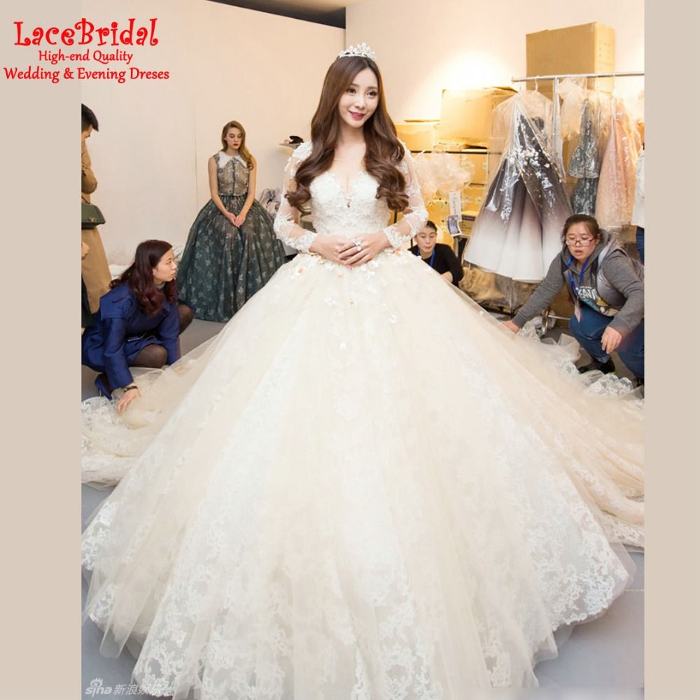 Find more wedding dresses information about luxury royal ball gown