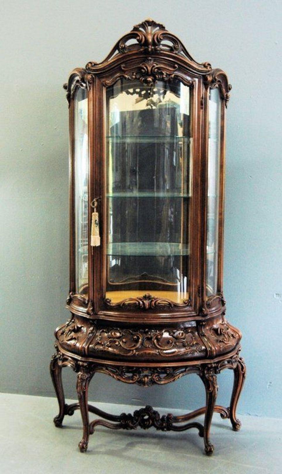 Furniture Artful Piece Of Curio Cabinets Antique