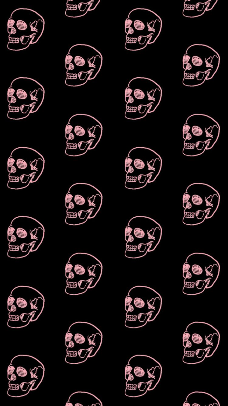 Pink Skulls Iphone Wallpaper Gothic Wallpaper Skull Wallpaper Halloween Wallpaper Iphone