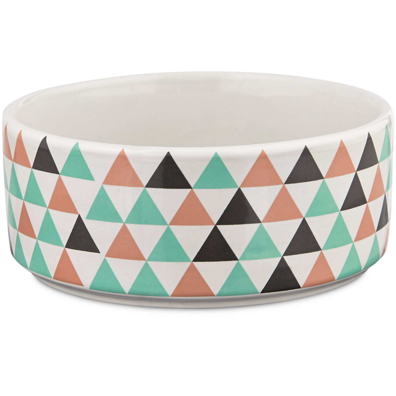 Harmony Boho Ceramic Dog Bowl 3 Cup Medium Multi Color