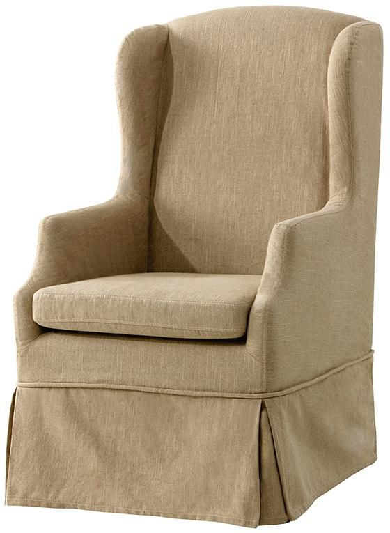 harrison skirted armchair with slipcover  armchairs
