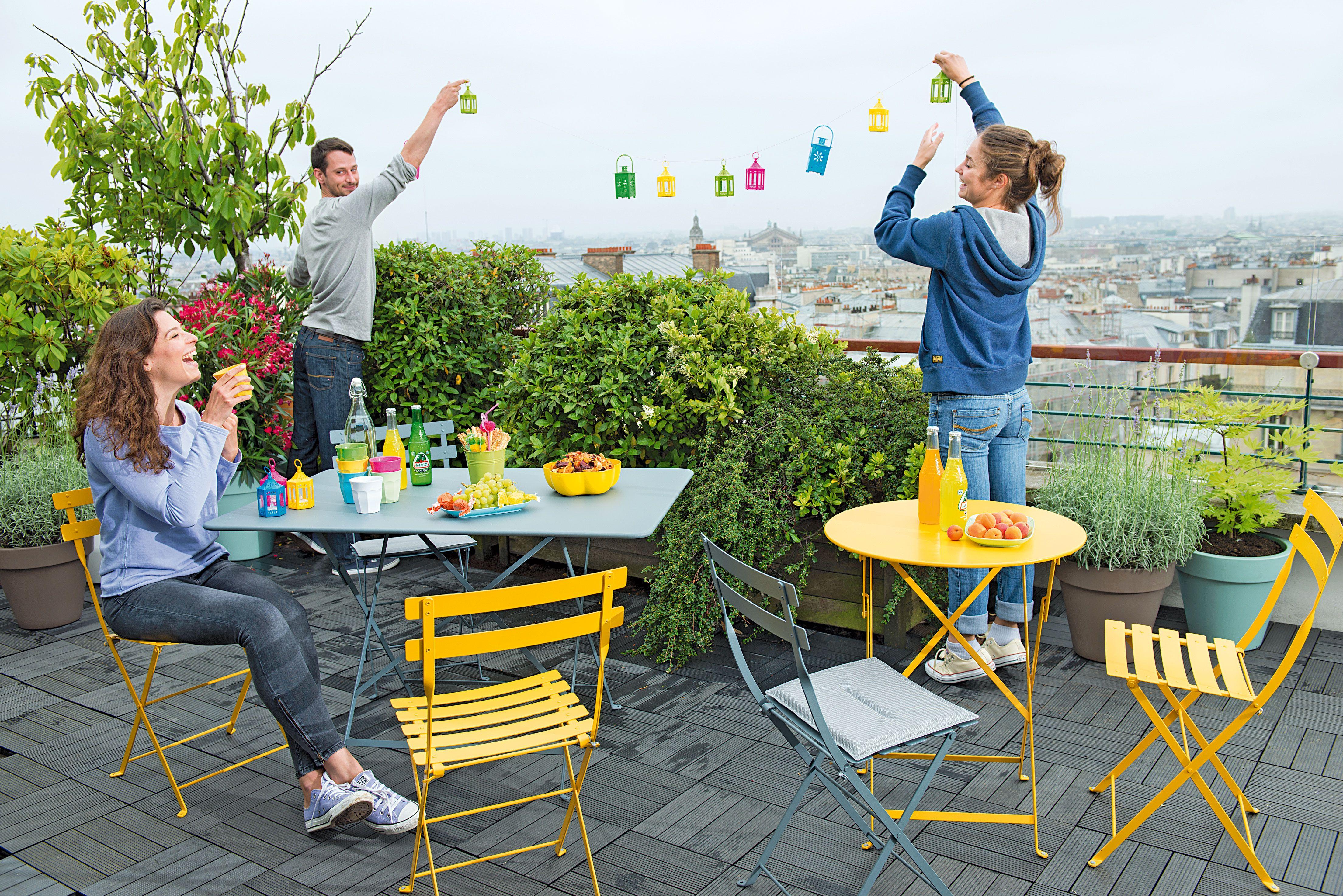 Chaise Bistro Miel | Vivre au jardin | Jardinerie truffaut ...