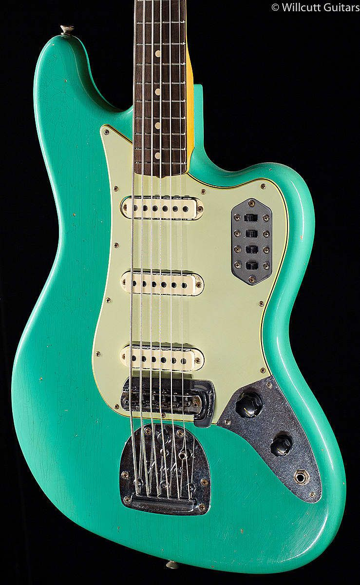 Fender Custom Shop Bass Vi Journeyman Relic Aged Seafoam Green 196 Willcutt Guitars Reverb Fender Custom Shop Fender Fender Jaguar
