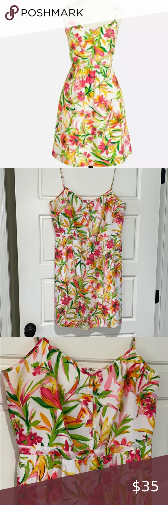 J Crew Seaside Cami Floral Summer Dress 14 Floral Dress Summer Summer Dresses Beautiful Summer Dresses [ 1740 x 580 Pixel ]