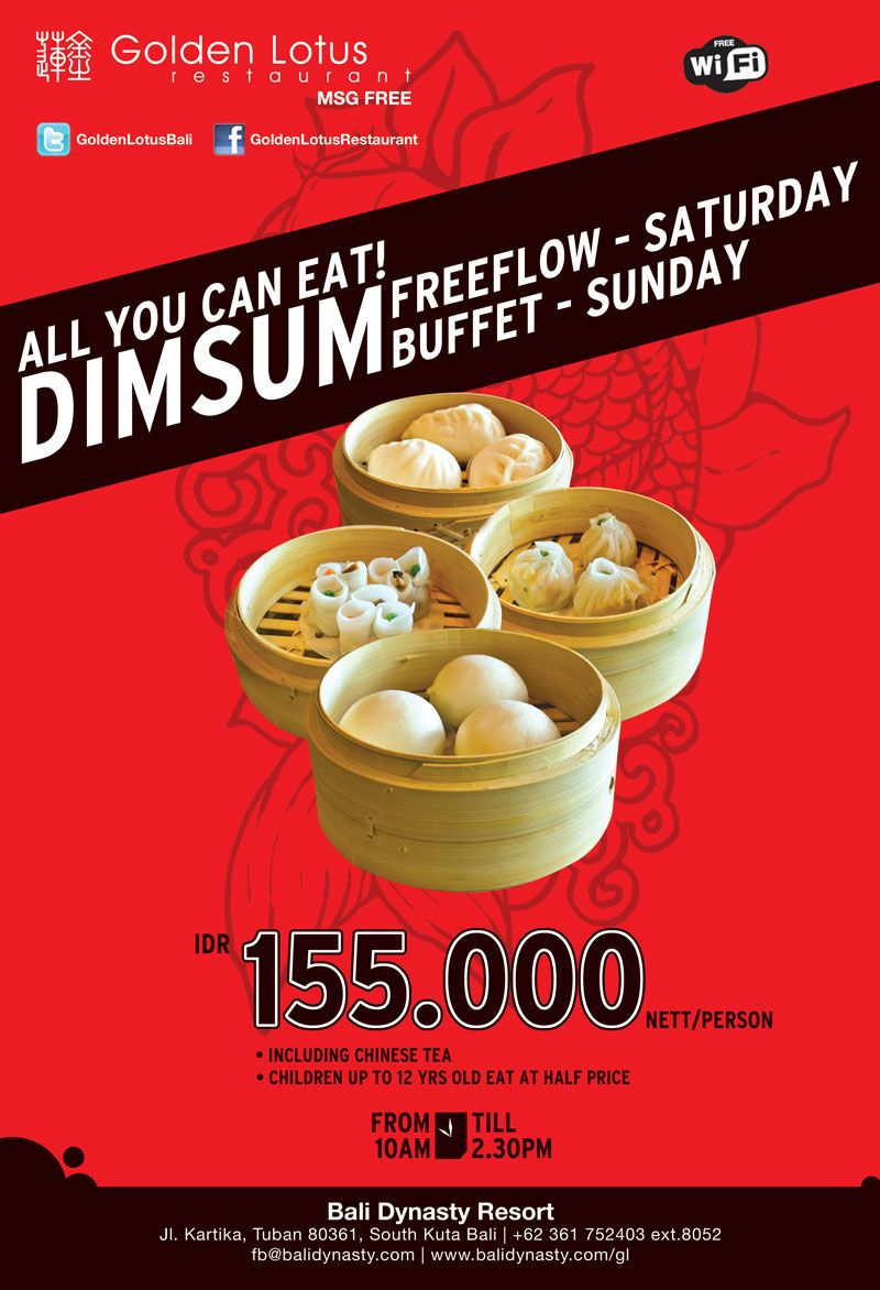 Savoury Dim Sum For Weekend Brunch Only At The Golden Lotus Chinese