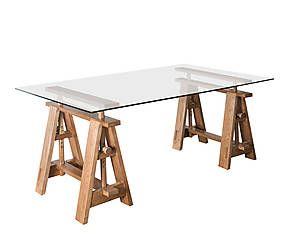 Scrivania con cavalletti: tavoli dal look nuovo | DALANI | cucine ...