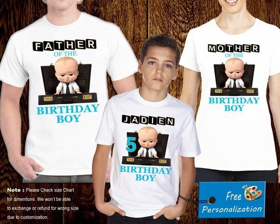 b29d749d Customized Boss Baby Birthday Shirt, Add Name & Age, Boss Baby Family, Custom  Birthday Party Tee, M021