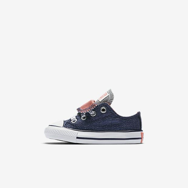 Converse Chuck Taylor All Star Double Tongue Shine and Shimmer Low Top  Infant Toddler Shoe  0aa6a449f9a86