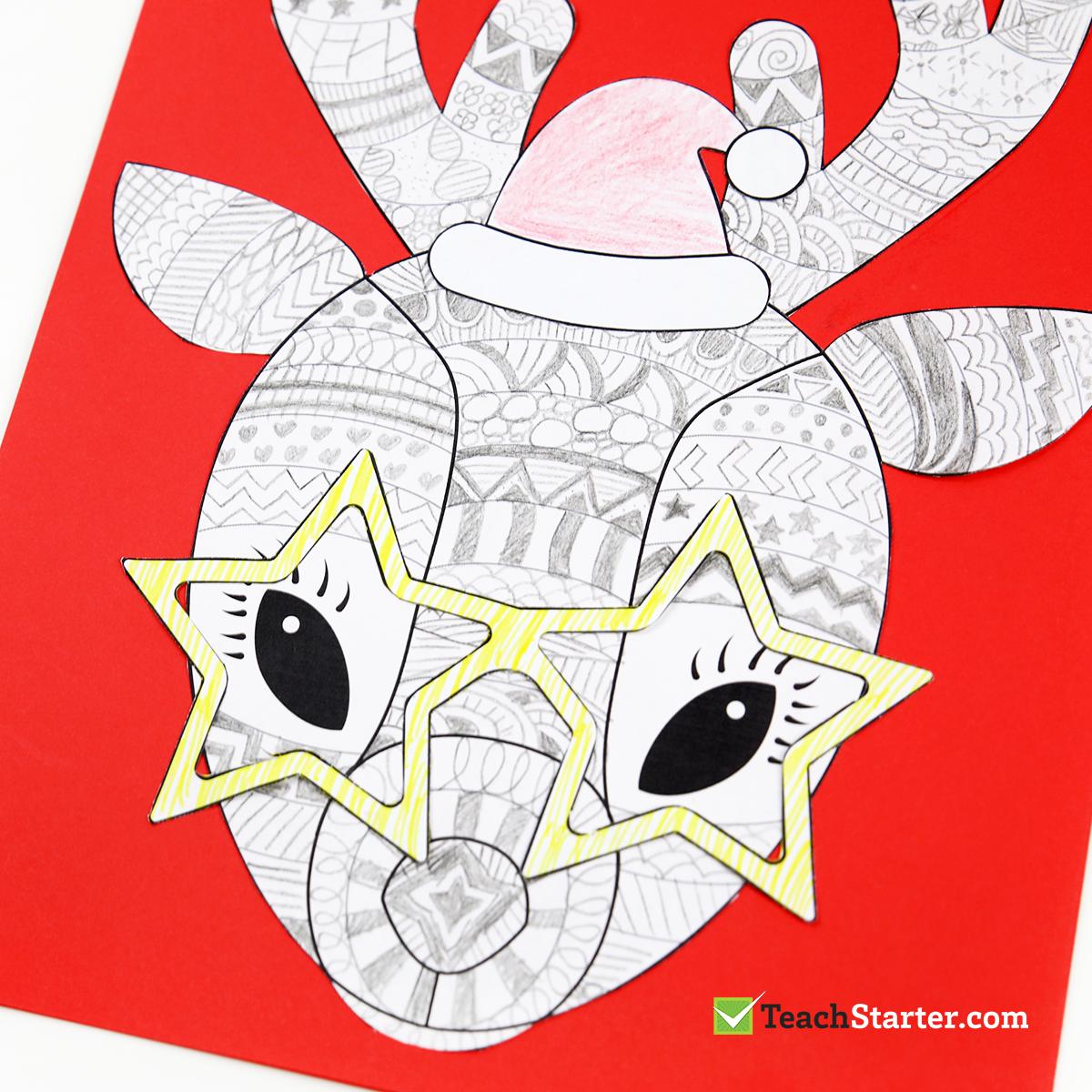 Funky Reindeer Christmas Craft | Teach Starter