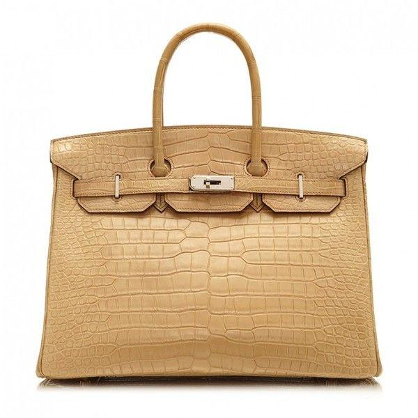 Pre-Owned Hermès Beige Crocodile Birkin 35cm ( 49 2228130285c28