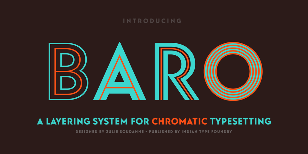 Baro Font Family – UXFree COM | Typefaces | New fonts, Sans