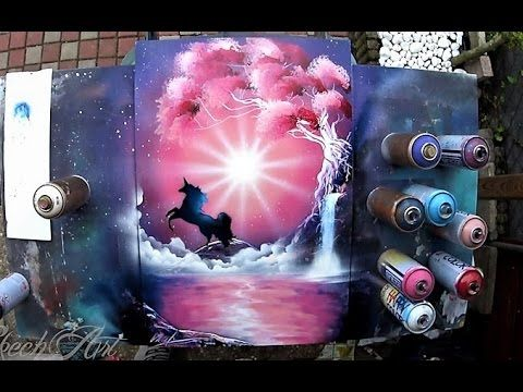 SPRAY PAINT ART by Skech – Aurora Borealis | Shutter Art
