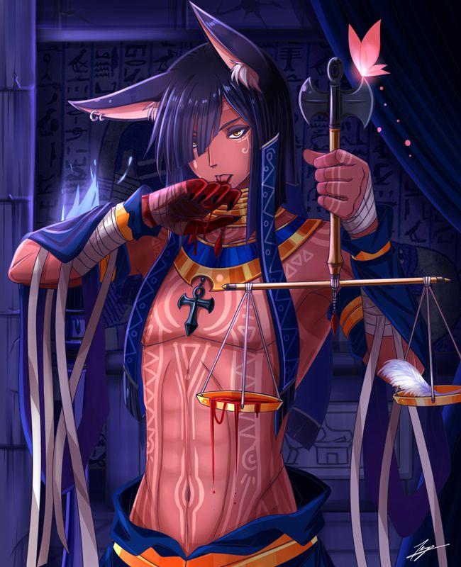 Anubis Anime Egyptian Anime Cute Anime Boy