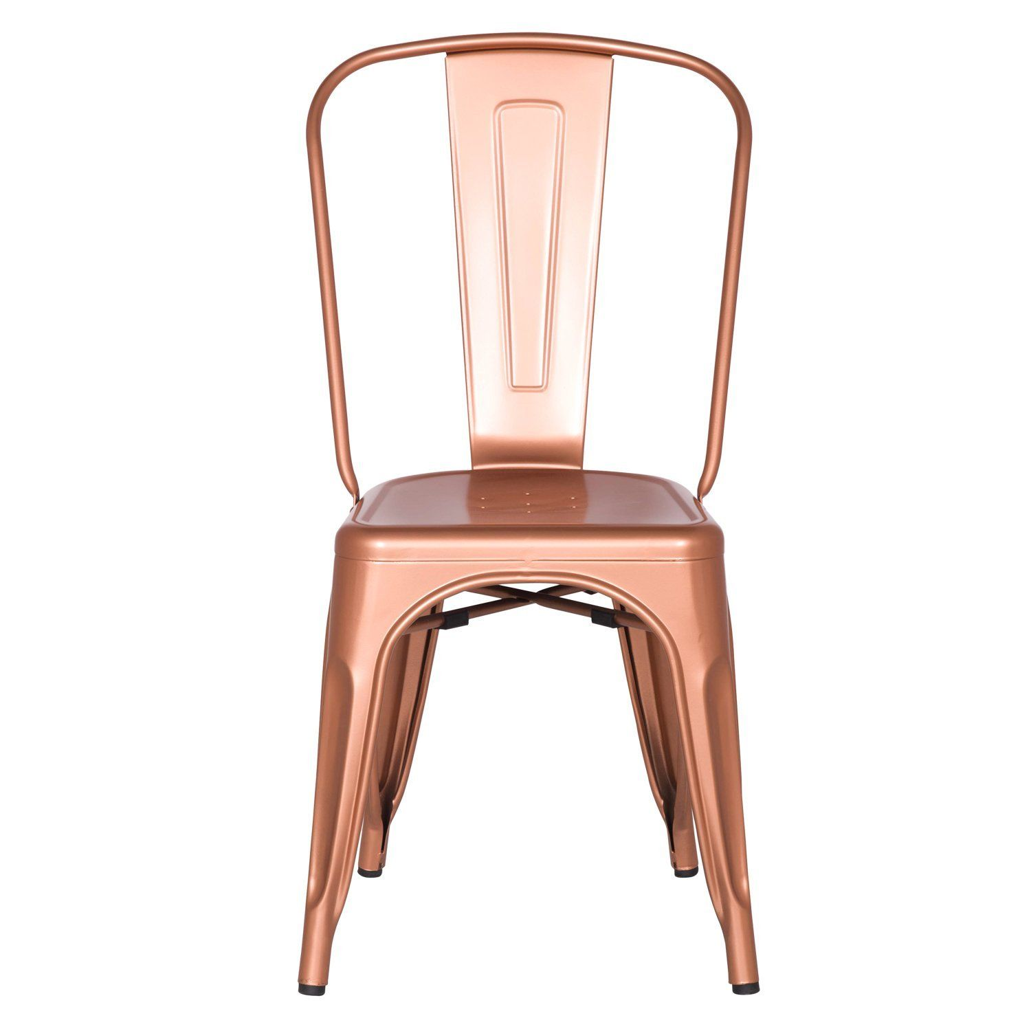 Adeco metal stackable industrial chic dining bistro cafe side chairs - Amazon Com Adeco Metal Stackable Industrial Chic Dining Bistro Cafe Side Chairs Copper