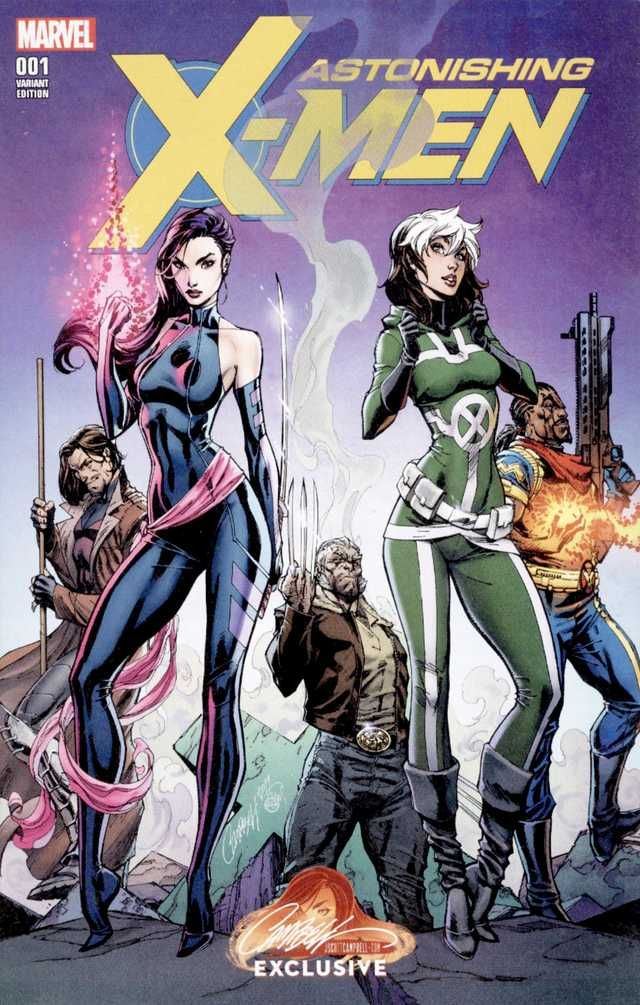 Astonishing X Men 001 2017 Covers Marvel Comics Art Comics J Scott Campbell