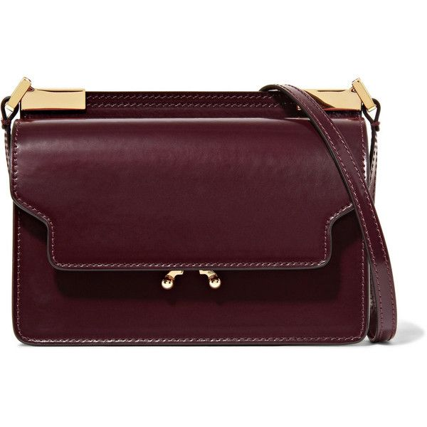 Trunk Micro Leather Shoulder Bag - Burgundy Marni cOH78gjP0