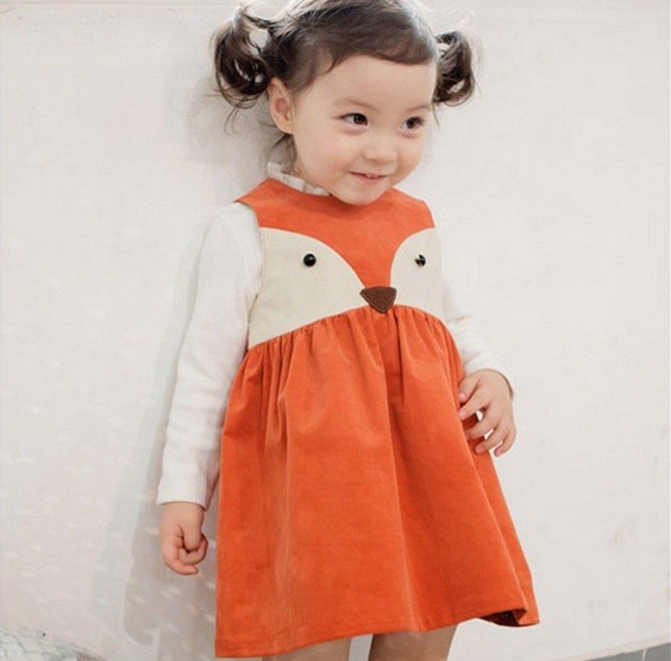 82a96cc9375c2 Toddler Sweet Kids Girls Fox Style Casual Dresses Sleeveless Spring ...