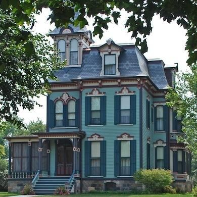 The William H Davenport House In Saline Michigan Is An Excellent Example Of Second Empire Victorian Archi Victorian Homes Victorian Style Homes Architecture